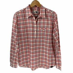 The North Face Cotton Pullover Shirt Top Plaid Med